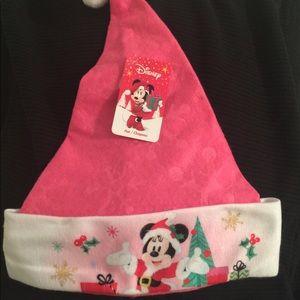 Girls Minnie Holiday Santa Hat, NWT